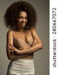 portrait of a beautiful natural ... | Shutterstock . vector #280667072