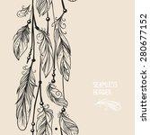 vector card design with... | Shutterstock .eps vector #280677152