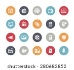 multimedia icons    classics... | Shutterstock .eps vector #280682852