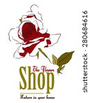 the flower shop   red rose | Shutterstock .eps vector #280684616