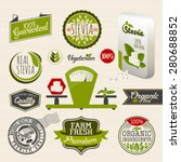 stevia and organic food label... | Shutterstock .eps vector #280688852