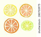 citrus vector set with vector... | Shutterstock .eps vector #280703975