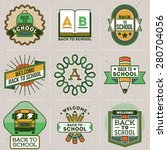 color retro design insignias... | Shutterstock .eps vector #280704056
