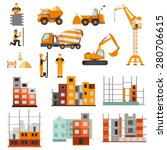 construction machines builders... | Shutterstock .eps vector #280706615