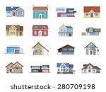 town house cottage and assorted ... | Shutterstock .eps vector #280709198