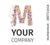 letter m logo. alphabet... | Shutterstock .eps vector #280711616