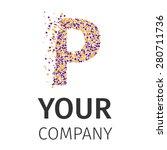 letter p logo. alphabet... | Shutterstock .eps vector #280711736