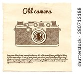 old camera on a paper... | Shutterstock .eps vector #280713188