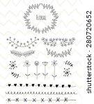hand drawn vintage floral...   Shutterstock .eps vector #280720652