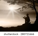 praise and worship concept ...   Shutterstock . vector #280721666