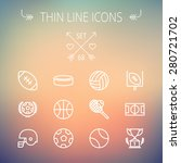 sports thin line icon set for... | Shutterstock .eps vector #280721702