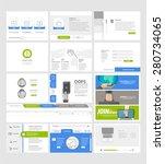 set of flat website template...