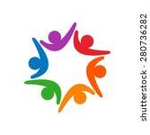 social relationship and... | Shutterstock .eps vector #280736282