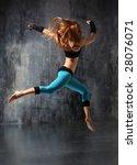 modern style dancer posing... | Shutterstock . vector #28076071