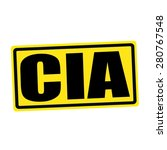 Cia Black Stamp Text On Yellow