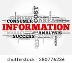 information word cloud ... | Shutterstock .eps vector #280776236
