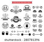 sport and fitness logo... | Shutterstock .eps vector #280781396