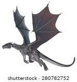 Grey Dragon   3d Rendered...