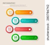 modern vector abstract step... | Shutterstock .eps vector #280786742