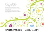 swirly flower invitation... | Shutterstock . vector #28078684
