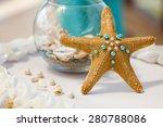 wedding decorations tropical... | Shutterstock . vector #280788086