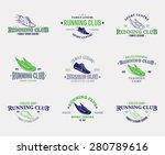 running club logo   Shutterstock .eps vector #280789616