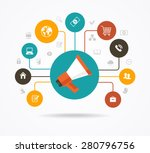 marketing  promotion concept.... | Shutterstock .eps vector #280796756
