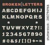 alphabet with bold upper case... | Shutterstock .eps vector #280796966