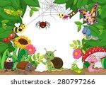 cartoon happy little animals .... | Shutterstock .eps vector #280797266