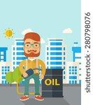 a caucasian businessman... | Shutterstock .eps vector #280798076