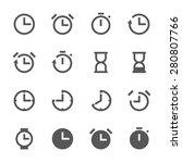 icon clock and time  vector... | Shutterstock .eps vector #280807766