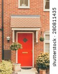 front door of newly built house ... | Shutterstock . vector #280811435
