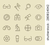 optical line icon set | Shutterstock .eps vector #280814042