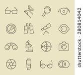 optical line icon set   Shutterstock .eps vector #280814042