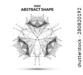 abstract low poly geometric... | Shutterstock .eps vector #280820192