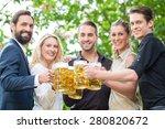 co workers after work meeting... | Shutterstock . vector #280820672