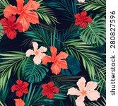 summer colorful hawaiian... | Shutterstock .eps vector #280827596
