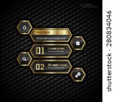 black and gold design layout.... | Shutterstock .eps vector #280834046