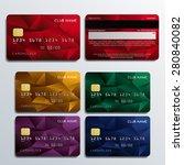 set of premium cards in... | Shutterstock .eps vector #280840082