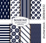 set of sea and nautical... | Shutterstock .eps vector #280846532