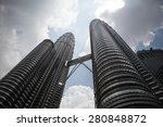 The Petronas Towers In Kuala...