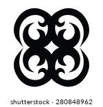 tribal tattoo vector design... | Shutterstock .eps vector #280848962