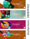 collection of flat web... | Shutterstock .eps vector #280859402