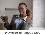 candid image of a businesswoman ... | Shutterstock . vector #280861292