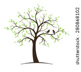 image of tree with birds.... | Shutterstock .eps vector #280868102