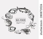 Sea Food Set Vector Graphic...
