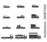 car icons  | Shutterstock .eps vector #280872365