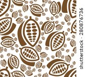 cocoa seamless pattern | Shutterstock .eps vector #280876736