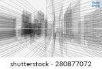 perspective 3d render of... | Shutterstock .eps vector #280877072