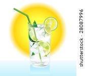 mojito cocktail   Shutterstock .eps vector #28087996